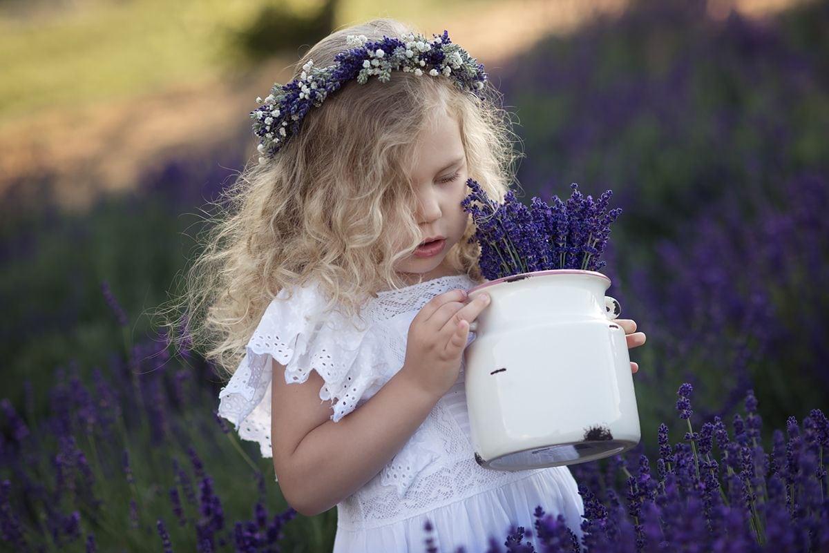 Lawendowa fotografia dziecięca