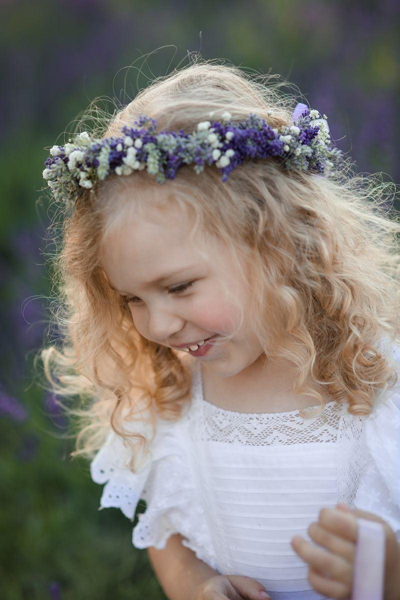 Dziecięca sesja lawendowa