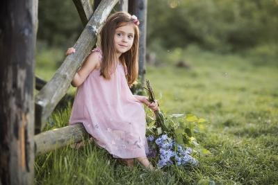 sesja naturalna portret dziecięcy