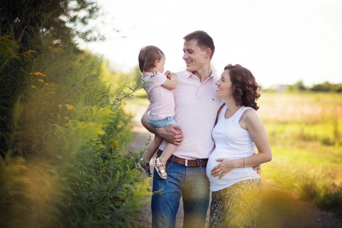 zdjęcie rodziny w parku krakowskim
