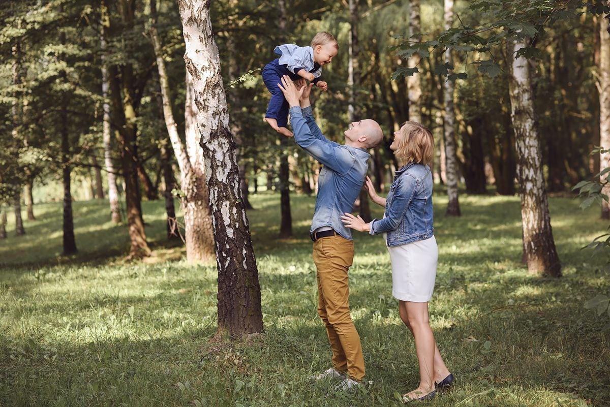 Fotografia ciążowa w parku