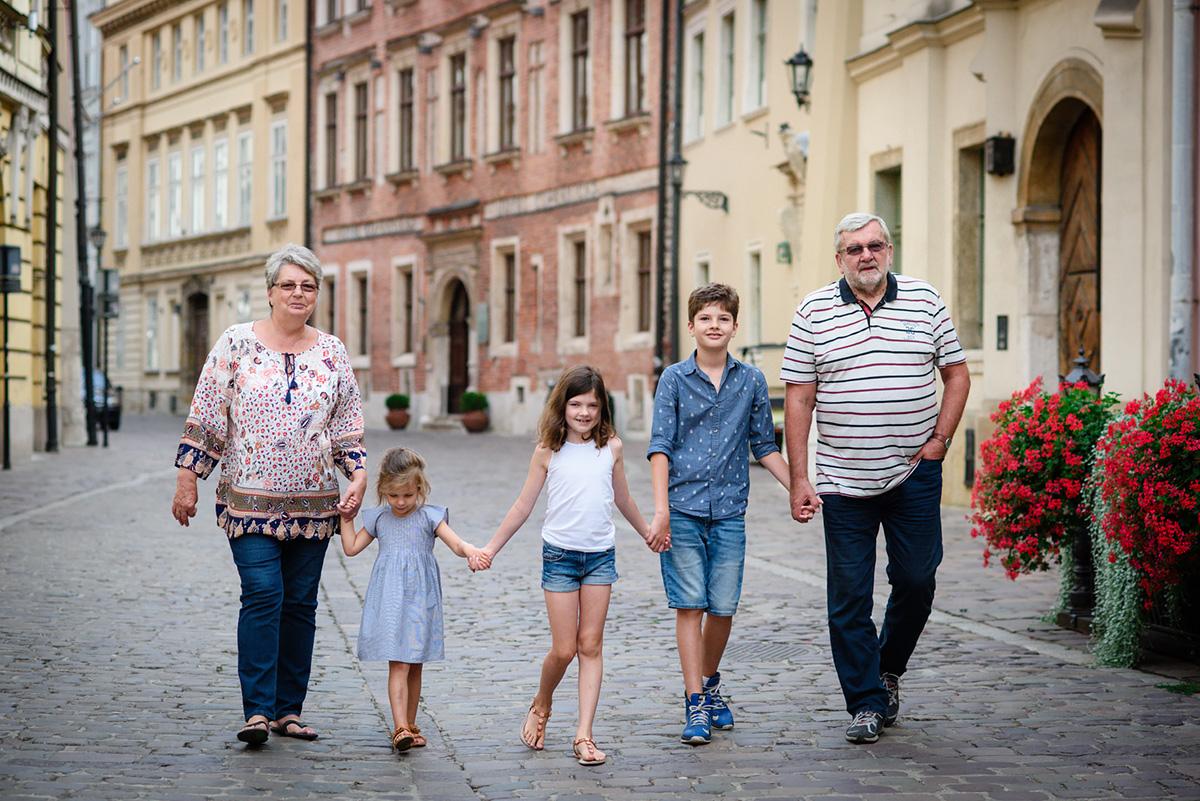Sesja dziadków z wnukami