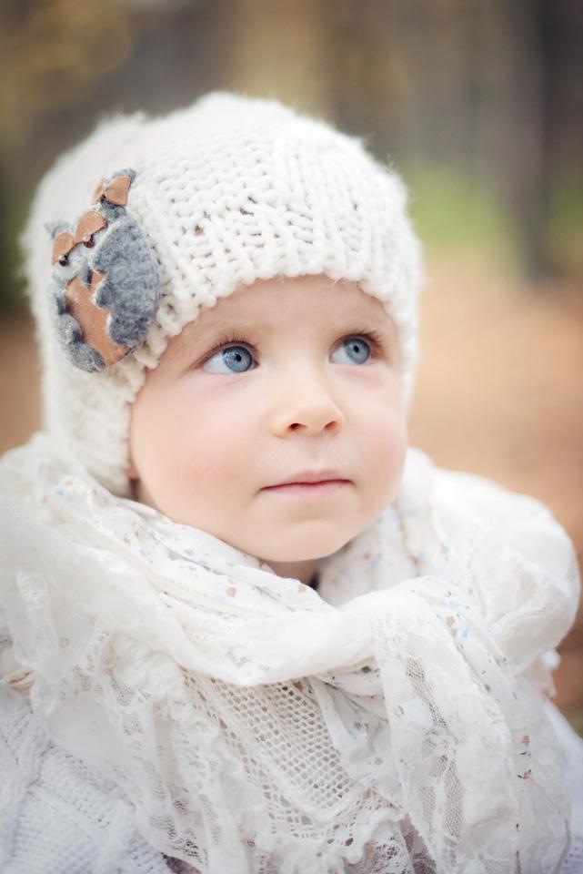 Portret dziecka na sesji fotograficznej