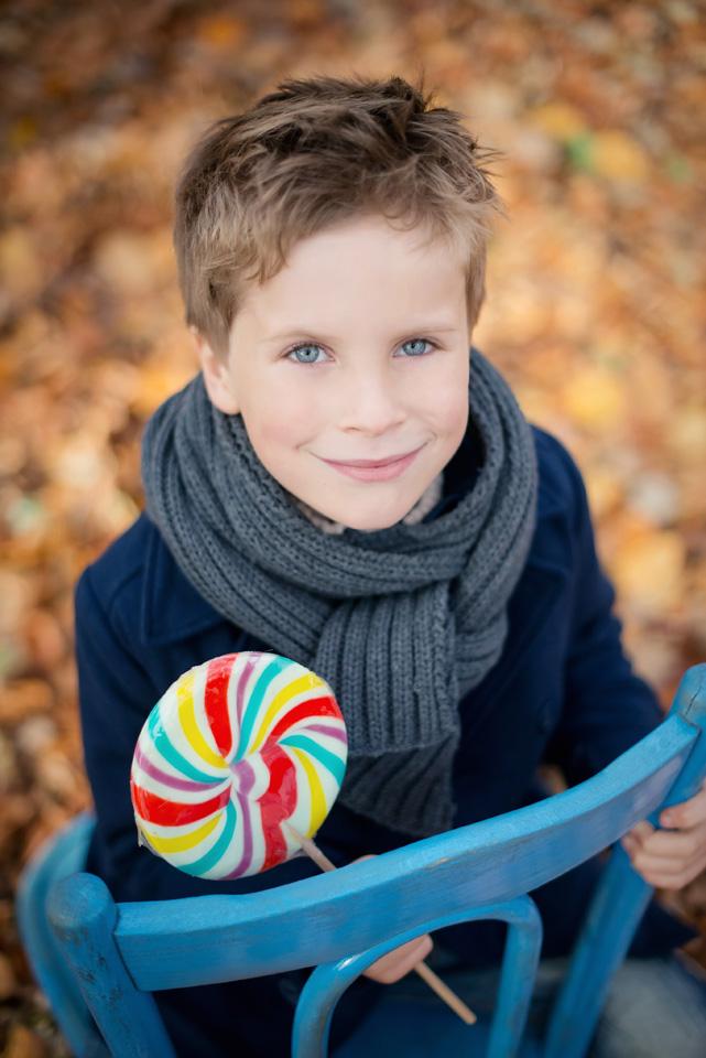 Sesja jesienna chłopca