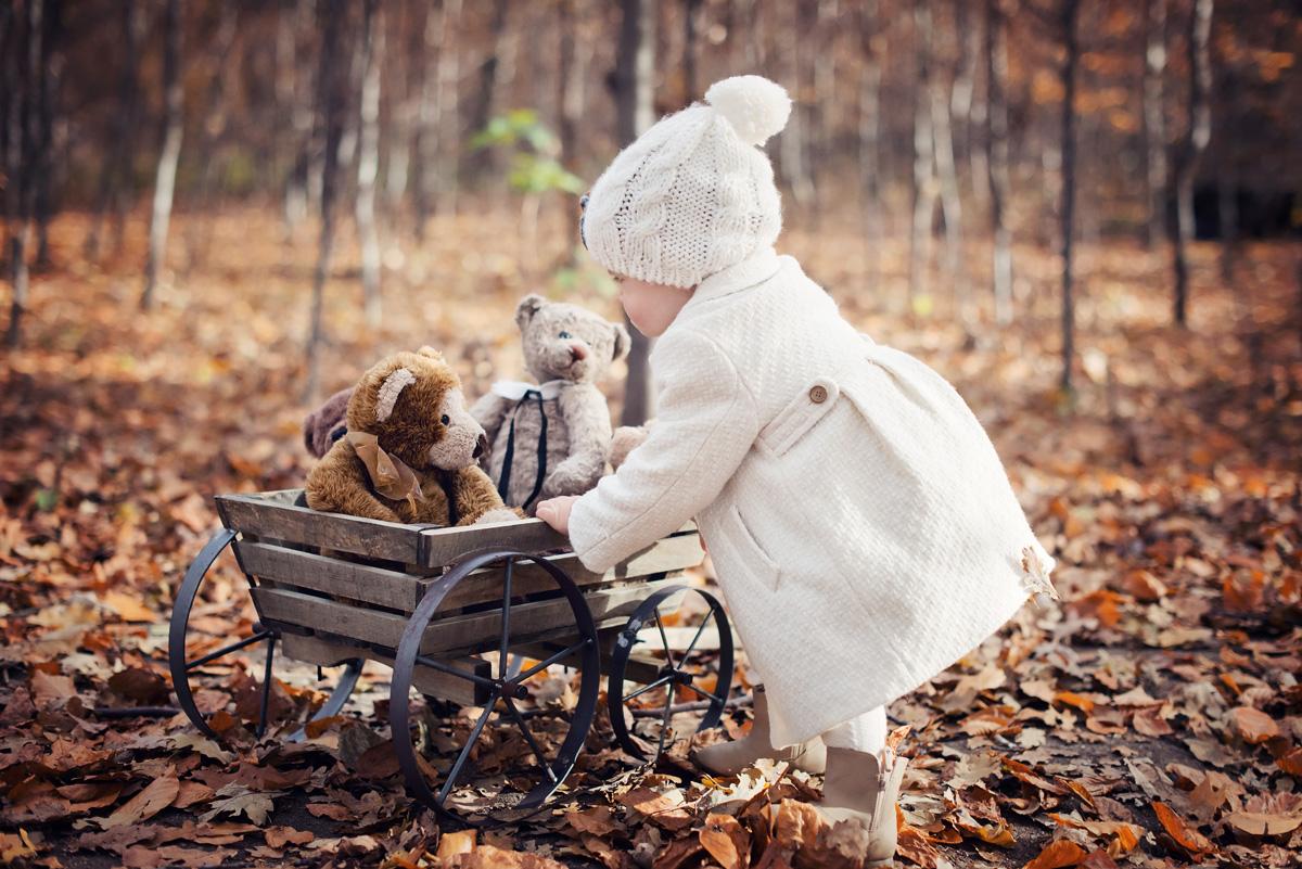 Parkowa sesja jesienna w kadrze profesjonalnego fotografa