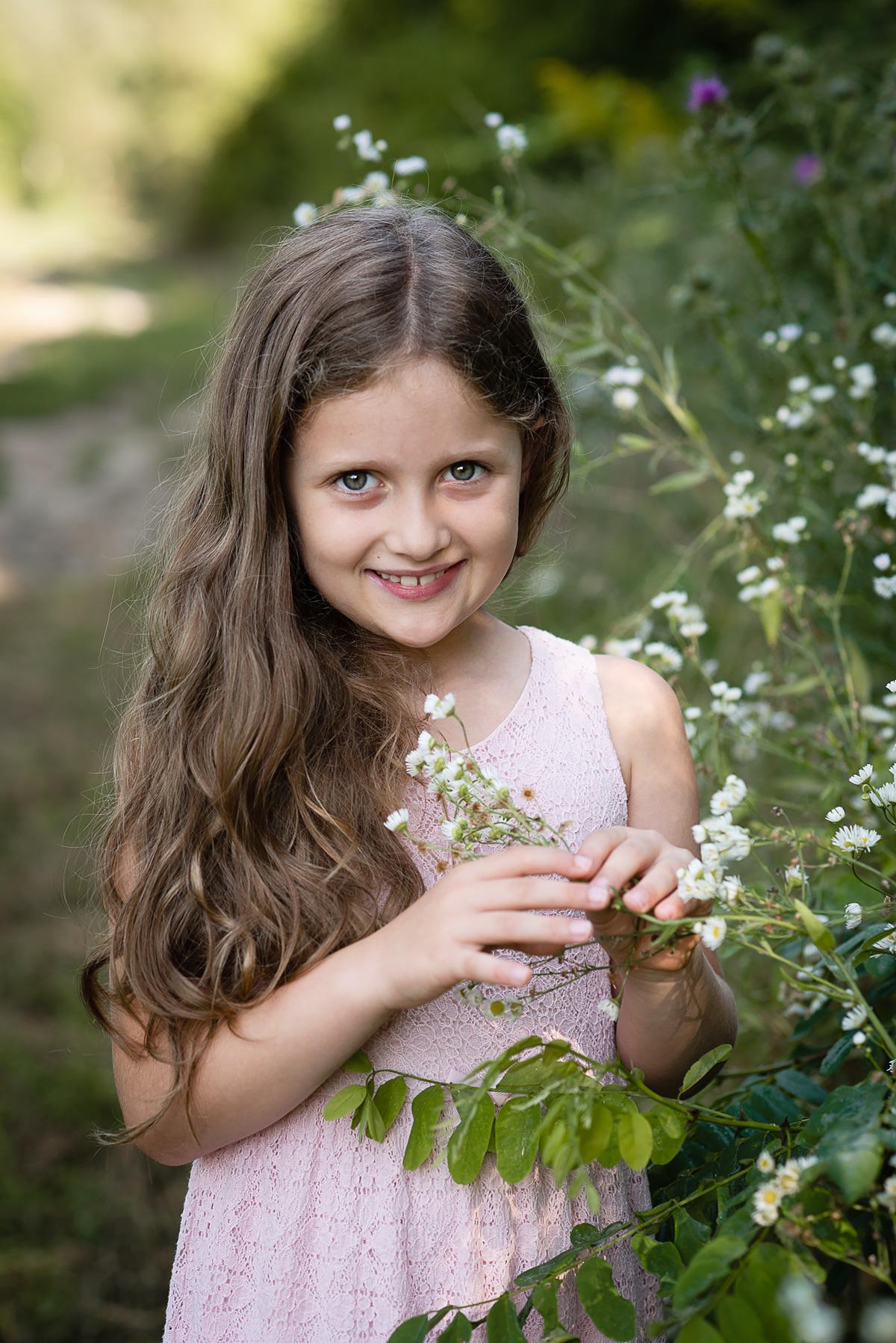 Dziewczynka na fotografii portretowej